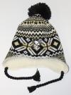 Zimní čepice ušanka REEBOK Tassle Pom NHL Pittsburgh Penguins