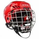 Hokejová helma CCM FitLite 40 Combo SR červená - vel. L