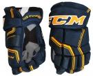 Hokejové rukavice CCM Quicklite 270 LTD JR modro-žluté