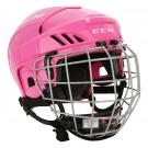 Hokejová helma CCM FitLite 40 Combo růžová - vel. S