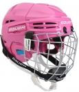 Hokejová helma BAUER Prodigy Combo YTH růžová