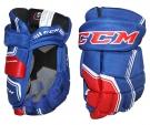 "Hokejové rukavice CCM Quicklite 270 JR modro-červené - vel. 12"""