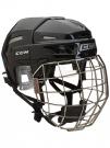 Hokejová helma CCM FitLite 3DS Combo - černá vel. M