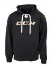 Mikina CCM Lace Hoody černá / zlaté logo