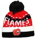 Zimní čepice kulich REEBOK NHL Team Name Cuff Pom Calgary Flames