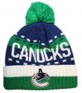 Zimní čepice kulich REEBOK NHL Team Name Cuff Pom Vancouver Canucks