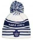 Zimní čepice kulich REEBOK NHL Cuff Pom Knit Toronto Maple Leafs