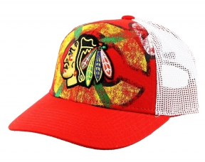 Kšiltovka REEBOK NHL Print Trucker Chicago Blackhawks