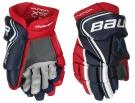 """Hokejové rukavice BAUER Vapor X800 Lite JR modro-červeno-bílé - vel. 12"""""""