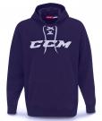 Mikina CCM Logo Hoody tmavě modrá JR