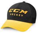 Kšiltovka CCM True2Hockey Trucker černá / žlutá