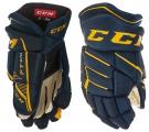 Hokejové rukavice CCM JetSpeed FT 370 SR modro-žluté
