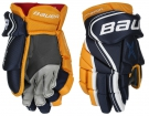 Hokejové rukavice BAUER Vapor X800 Lite SR modro-žluté