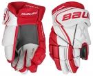 Hokejové rukavice BAUER Vapor X800 Lite SR bílo-červené