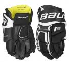 """Hokejové rukavice BAUER Supreme 1S YTH černé - vel. 9"""""""