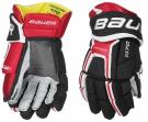 Hokejové rukavice BAUER Supreme S170 SR černo-červené