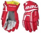 Hokejové rukavice BAUER Supreme S170 SR červené