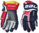 Hokejové rukavice BAUER Supreme S170 SR modro-červeno-bílé