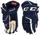 Hokejové rukavice CCM Tacks 9040 JR modro-bílé
