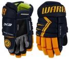Hokejové rukavice WARRIOR Alpha DX3 SR modro-žluté