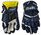 Hokejové rukavice BAUER Supreme S29 SR tmavě modré