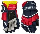 Hokejové rukavice BAUER Supreme S29 SR modro-červeno-bílé