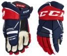 Hokejové rukavice CCM Tacks 9060 JR LTD modro-červené