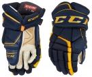 Hokejové rukavice CCM Super Tacks AS1 SR modro-žluté