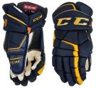 Hokejové rukavice CCM Tacks 9080 SR modro-žluté