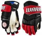 Hokejové rukavice WARRIOR Covert Pro SR černo-červené