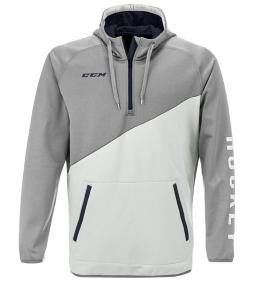 Mikina CCM 1/4 Zip Tech Fleece Light Grey