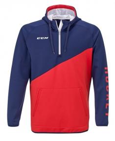 Mikina CCM 1/4 Zip Tech Fleece Ensign Blue