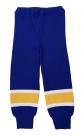Dětské hokejové štulpny - kamaše modro-žluté Zlín